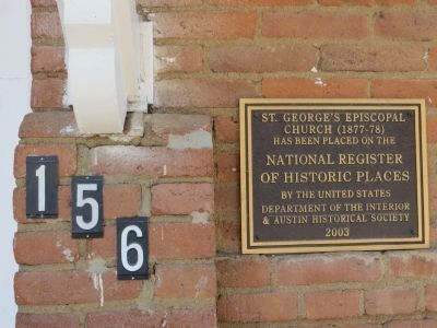 St. George's Episcopal Church Marker image. Click for full size.