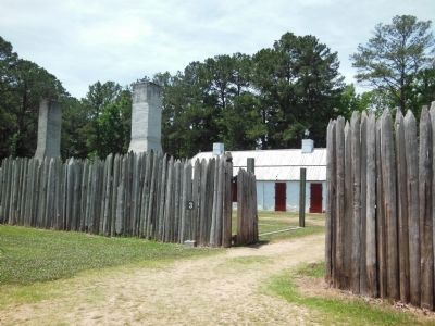 Fort Toulouse Stockade Entry image. Click for full size.