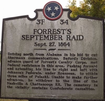 Forrest's September Raid Marker image. Click for full size.