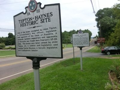 Tipton-Haynes Historic Site Marker image. Click for full size.