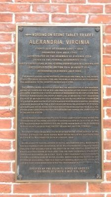 Alexandria, Virginia Marker image. Click for full size.