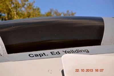 Capt. Ed Yeilding's name on F-4D Phantom canopy. image. Click for full size.