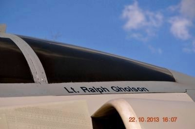 Lt. Ralph Gholson's name on F-4D Phantom canopy. image. Click for full size.