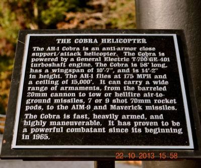 The Cobra Helicopter Marker image. Click for full size.