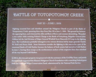 Battle of Totopotomoy Creek Marker Photo, Click for full size