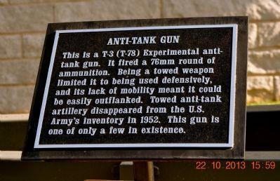 Anti-Tank Gun Marker image. Click for full size.