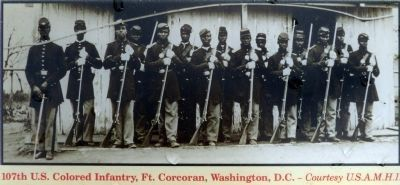 107th U.S. Colored Infantry<br>Fort Corcoran, Washington D.C. image. Click for full size.