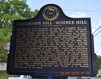Gallagher Hill/Science Hill Marker image. Click for full size.