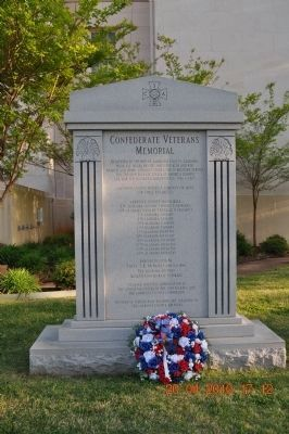 Confederate Veterans Memorial (front) image. Click for full size.