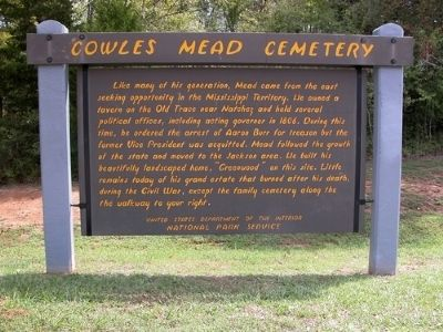 Cowles Mead Cemetery Marker image. Click for full size.