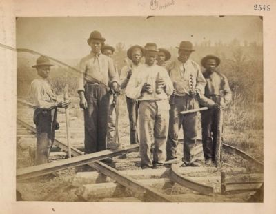 African American laborers on the U.S. Military Railroad in Northern Virginia image. Click for full size.