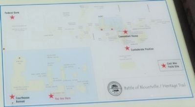 Battle of Blountville / Heritage Trail map image. Click for full size.