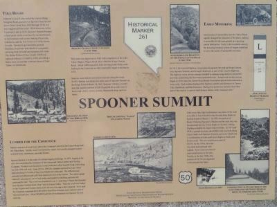 Spooner Summit Marker image. Click for full size.