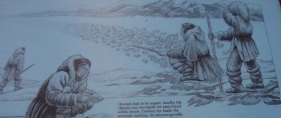 Close up of the Ice Age Hunters Marker image, Click for more information