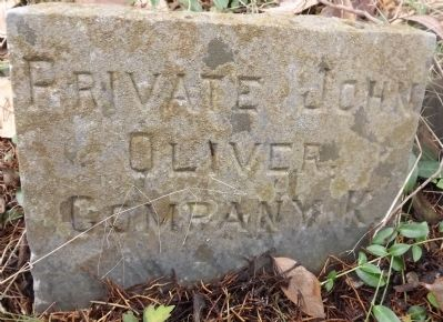 Private John Oliver, Company K. image. Click for full size.