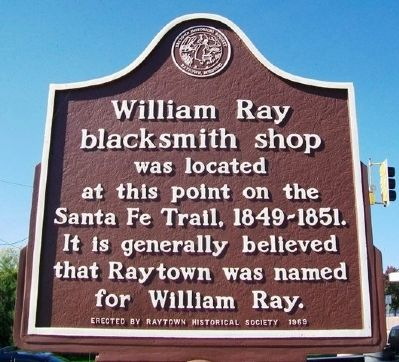 William Ray Blacksmith Shop Marker image. Click for full size.