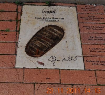 Footprint & Signature of Capt. Edgar Mitchell image. Click for full size.