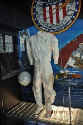 Space Suit for Apollo 16 image. Click for full size.