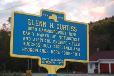 Glenn H. Curtiss Marker image. Click for full size.