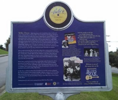 Willie Dixon Marker (back) image. Click for full size.