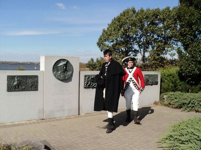 British Soldiers at the Brigadier General Hugh Mercer Marker image. Click for full size.