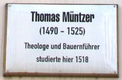 Thomas Müntzer Marker image. Click for full size.