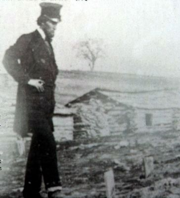 Abraham Lincoln views soldier graves at Bull Run, 1862 image. Click for full size.