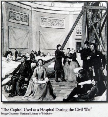 """The Capitol Used as a Hospital During the Civil War"" image. Click for full size."