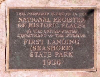First Landing State Park right Marker image. Click for full size.