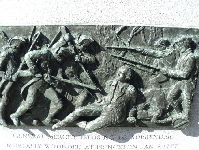 Plaque at Fort Mercer, NJ image. Click for full size.