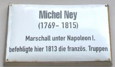 Michel Ney Marker image. Click for full size.
