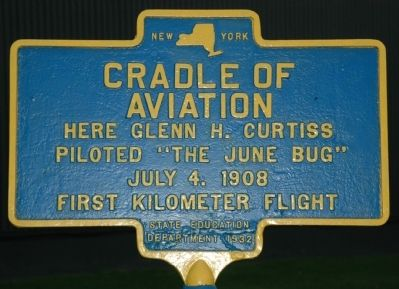 Cradle of Aviation Marker image. Click for full size.