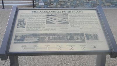 The Alexandria Ford Plant Marker image. Click for full size.