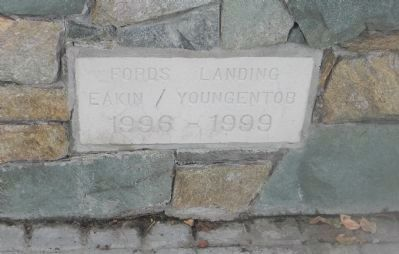 "Close-up of the ""Ford's Landing Park, 1996-1999"" cornerstone image. Click for full size."