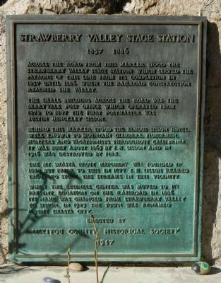 Strawberry Valley Stage Station Marker image. Click for full size.