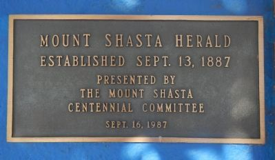 Mt. Shasta Herald Marker image. Click for full size.