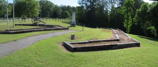 Confederate Mass Grave image. Click for full size.