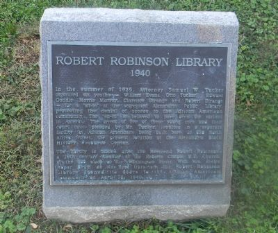 Robert Robinson Library Marker image. Click for full size.