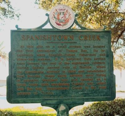 Spanishtown Creek Marker image. Click for full size.