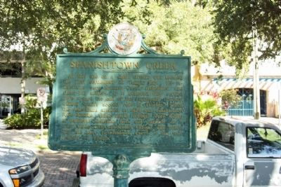 Spanishtown Creek Marker seen along West Bay Street image. Click for full size.