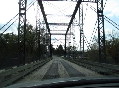 Driving south across the Second Street Bridge image. Click for full size.
