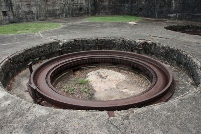 "Mounting ring for a 12"" mortar in Battery Dearborn's pit B image. Click for full size."