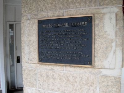 Rialto Square Theatre Marker image. Click for full size.