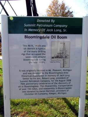 Bloomingdale Oil Boom Marker image. Click for full size.