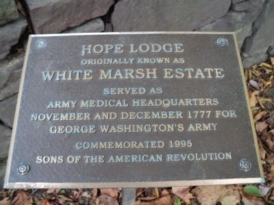 Hope Lodge Marker image. Click for full size.