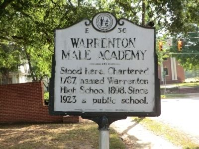 Warrenton Male Academy Marker image. Click for full size.