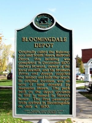 Bloomingdale Depot Marker image. Click for full size.