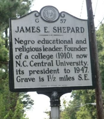 James E. Shepard Marker image. Click for full size.