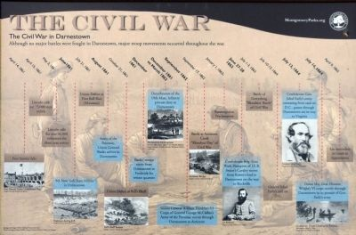 The Civil War in Darnestown Marker image. Click for full size.