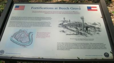 Fortifications at Beech Grove Marker image. Click for full size.